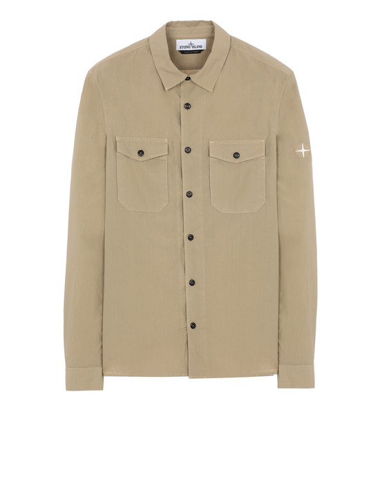 STONE ISLAND 12010 Long sleeve shirt Man Dark Beige
