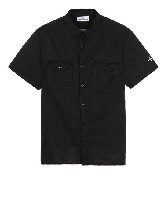 STONE ISLAND 12715 Short sleeve shirt Man Black
