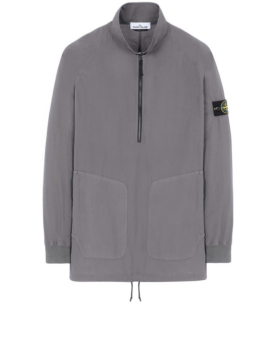 STONE ISLAND 10810 OVER SHIRT Man Blue Grey