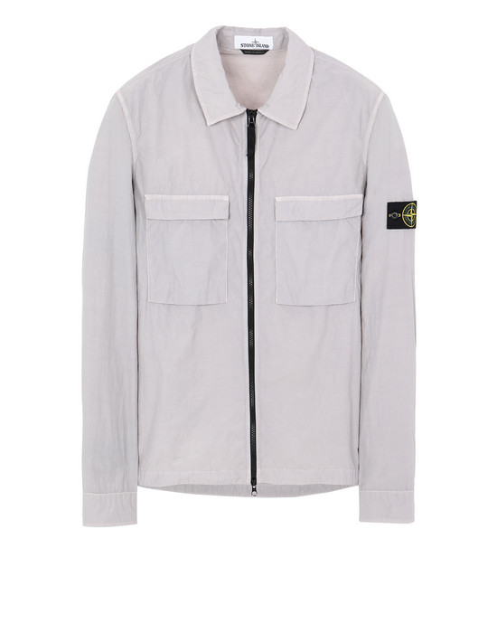 STONE ISLAND 11102 NASLAN LIGHT OVER SHIRT Man Dust Grey