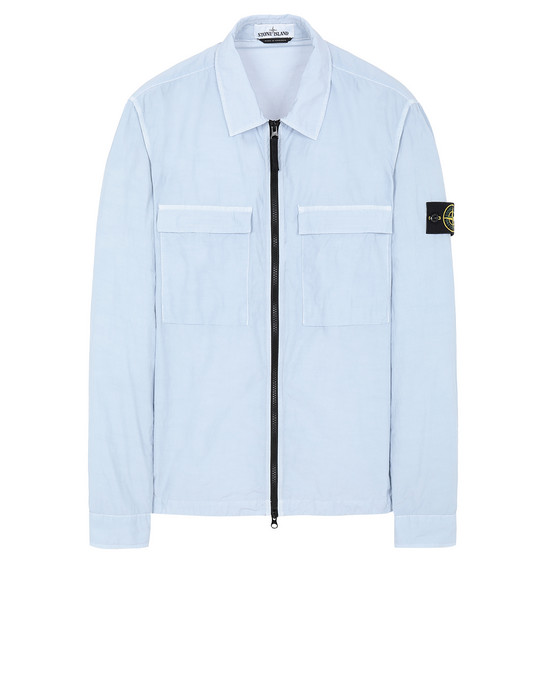 STONE ISLAND 11102 NASLAN LIGHT OVER SHIRT Man Sky Blue