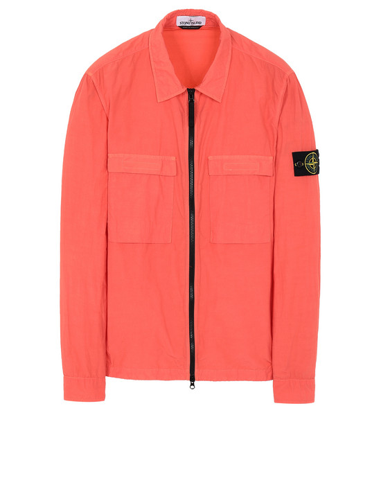 STONE ISLAND 11102 NASLAN LIGHT OVER SHIRT Man Lobster Red