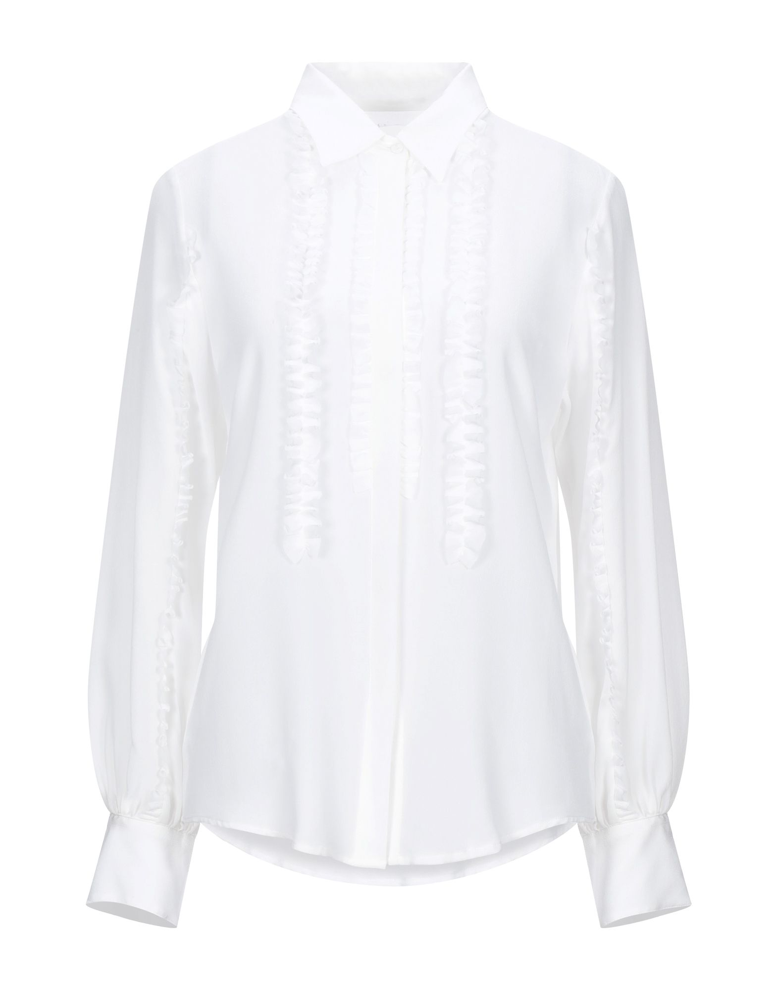 《セール開催中》CAMICETTASNOB レディース シャツ ホワイト 42 シルク 100%