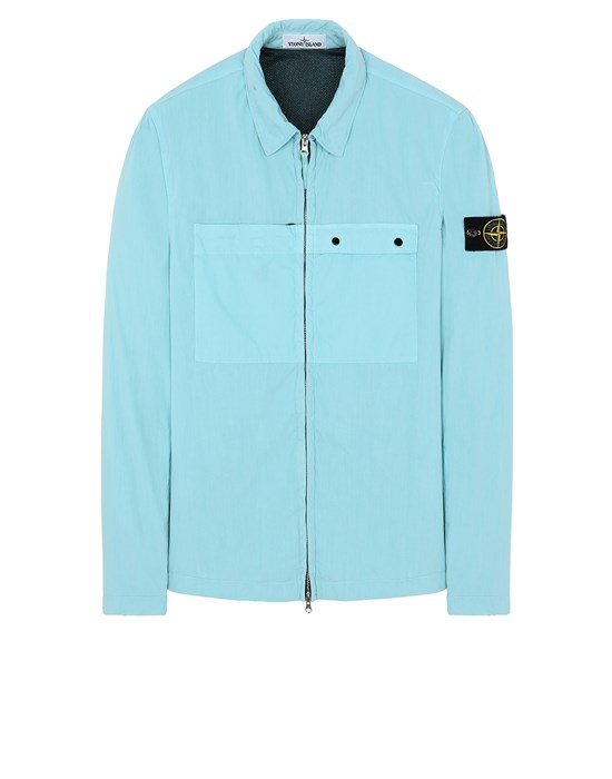 STONE ISLAND 10404 OVER SHIRT Man Aqua