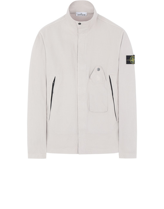 STONE ISLAND 10910 OVER SHIRT Man Dove Grey