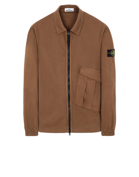 STONE ISLAND 10310 OVER SHIRT Man Tobacco