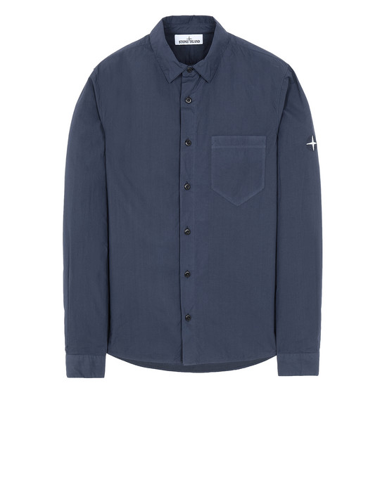 STONE ISLAND 12501 Long sleeve shirt Man Marine Blue