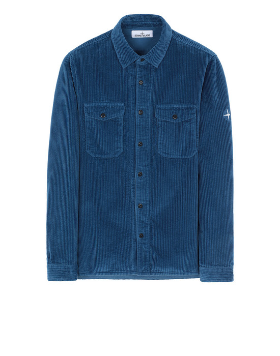 STONE ISLAND 12111 Long sleeve shirt Man Periwinkle