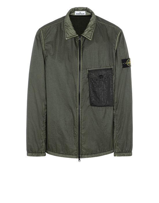 OVER SHIRT Man 11435 LAMY FLOCK Front STONE ISLAND