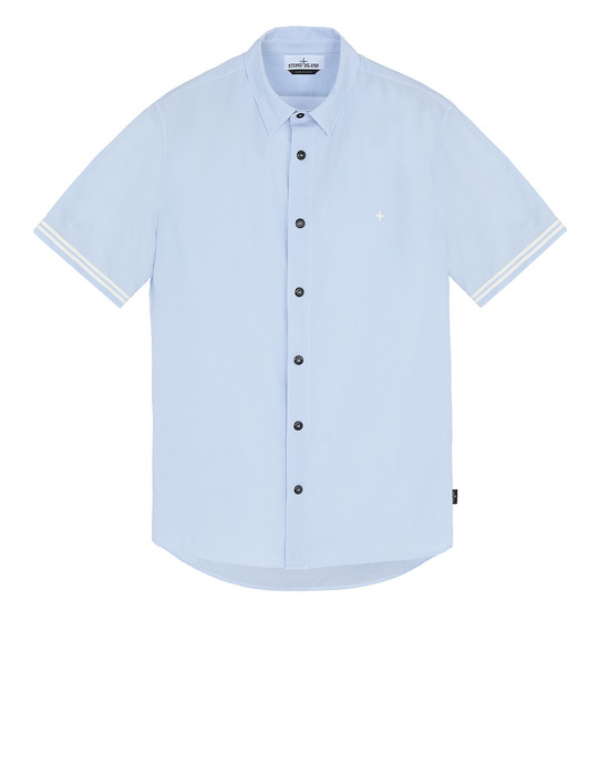 STONE ISLAND 12110 Short sleeve shirt Man Sky Blue