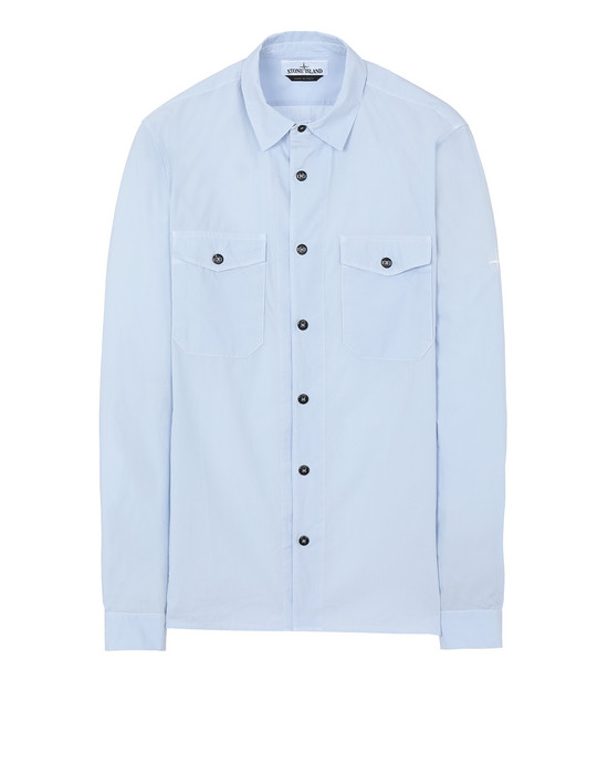 STONE ISLAND 12010 Long sleeve shirt Man Sky Blue
