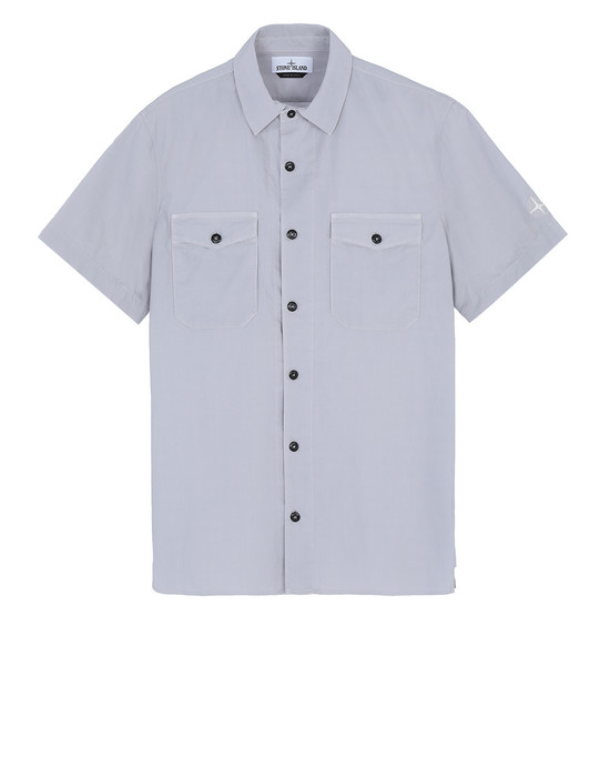 STONE ISLAND 12710 Short sleeve shirt Man Dust Gray