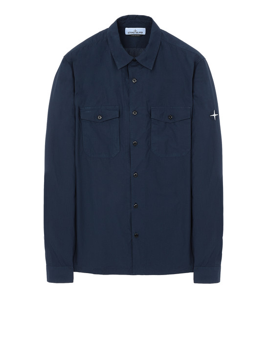 STONE ISLAND 12010 Long sleeve shirt Man Marine Blue