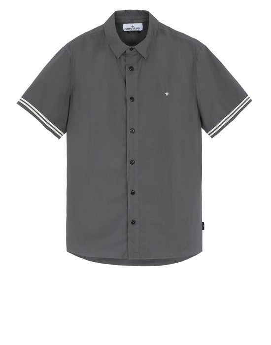 STONE ISLAND 12110 Short sleeve shirt Man Blue Grey