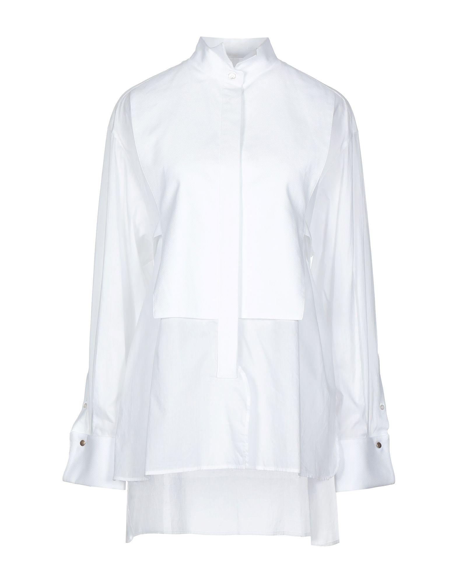 《セール開催中》GOLDEN GOOSE DELUXE BRAND レディース シャツ ホワイト L コットン 100%