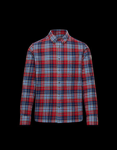 SHIRT Red Category Long-sleeved shirts Man