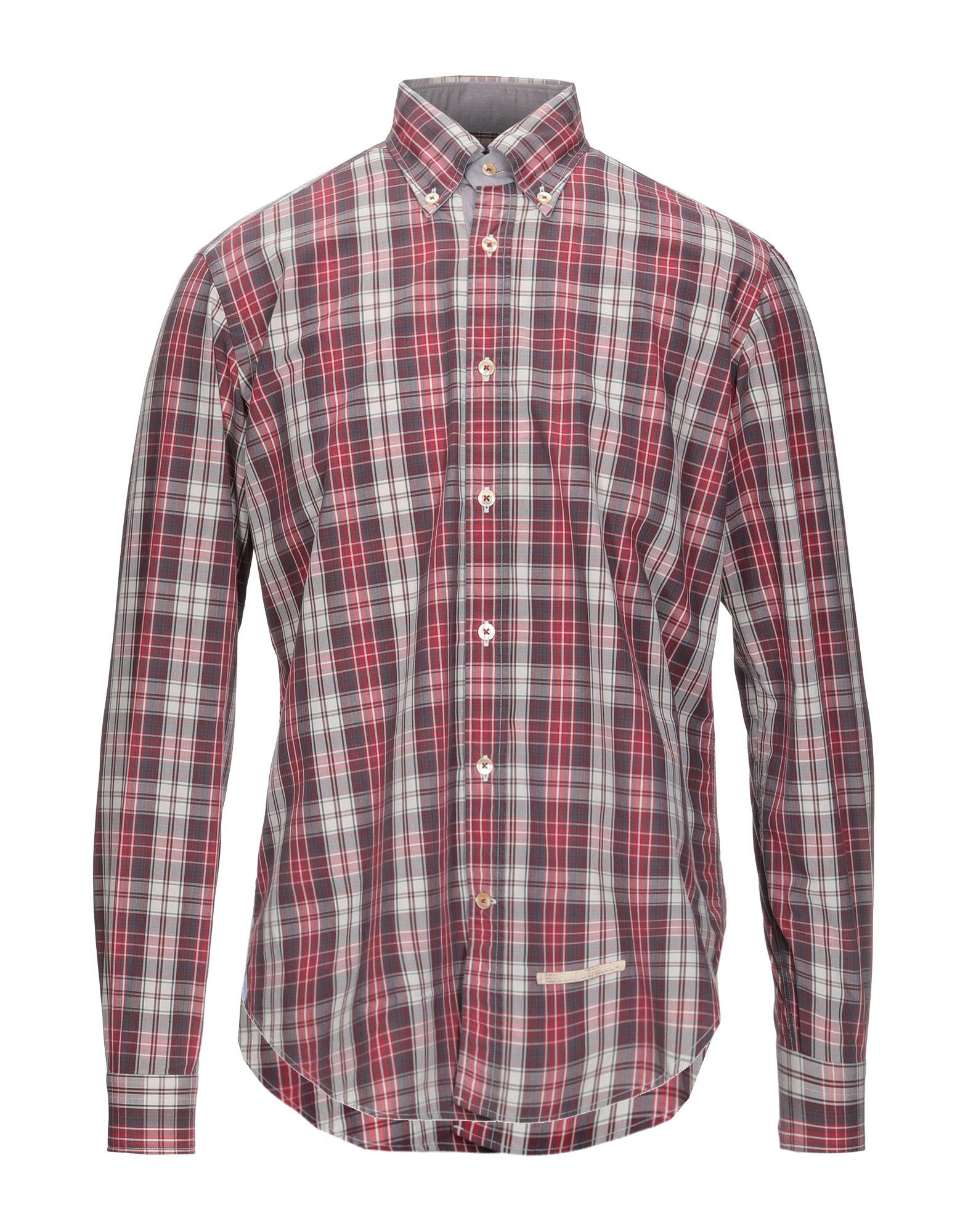 《セール開催中》TINTORIA MATTEI 954 メンズ シャツ ディープパープル 40 コットン 100%