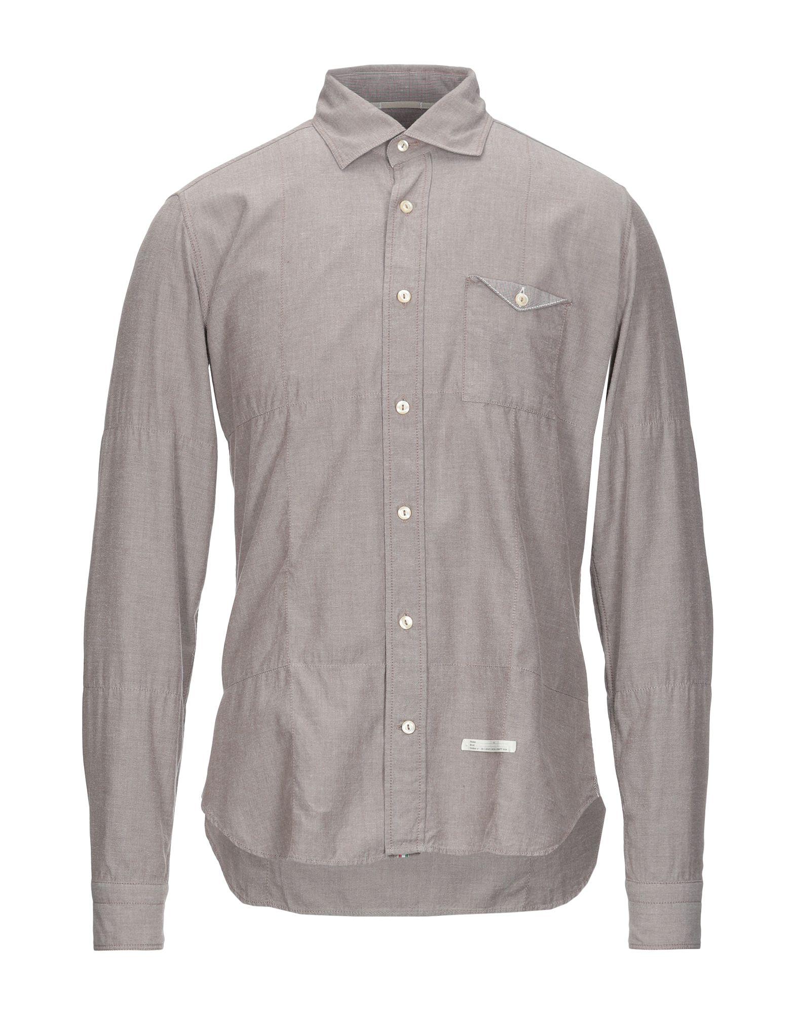 《セール開催中》TINTORIA MATTEI 954 メンズ シャツ グレー 39 コットン 100%