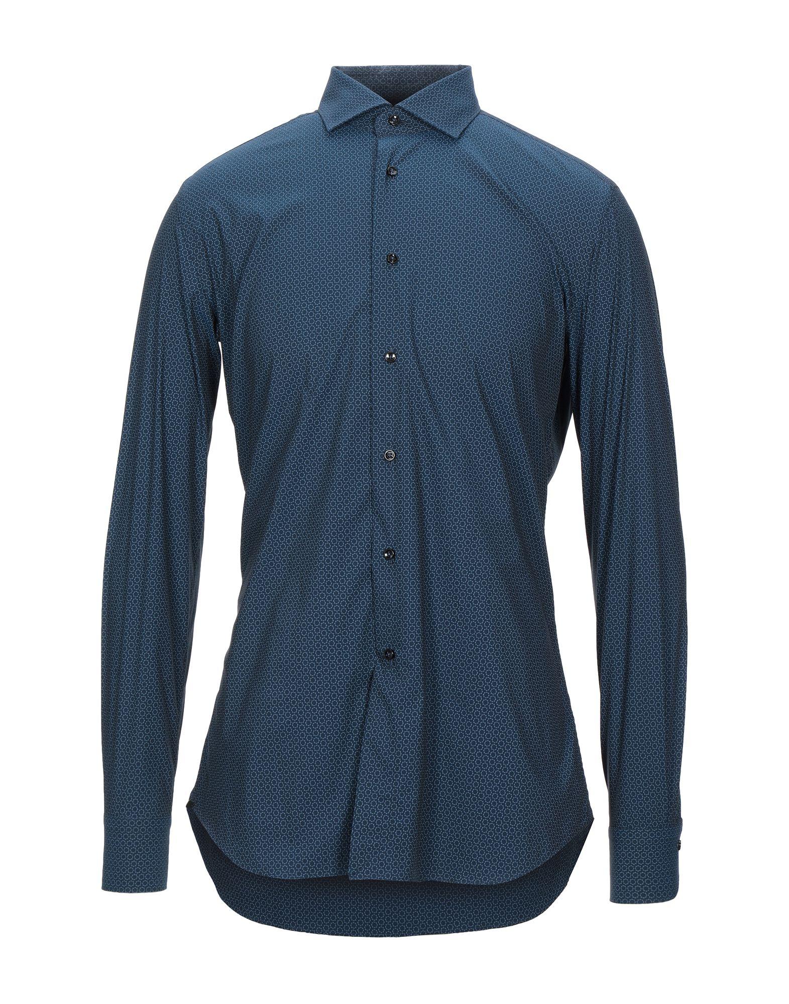 《セール開催中》AVON CELLI 1922 メンズ シャツ ダークブルー 40 コットン 100%