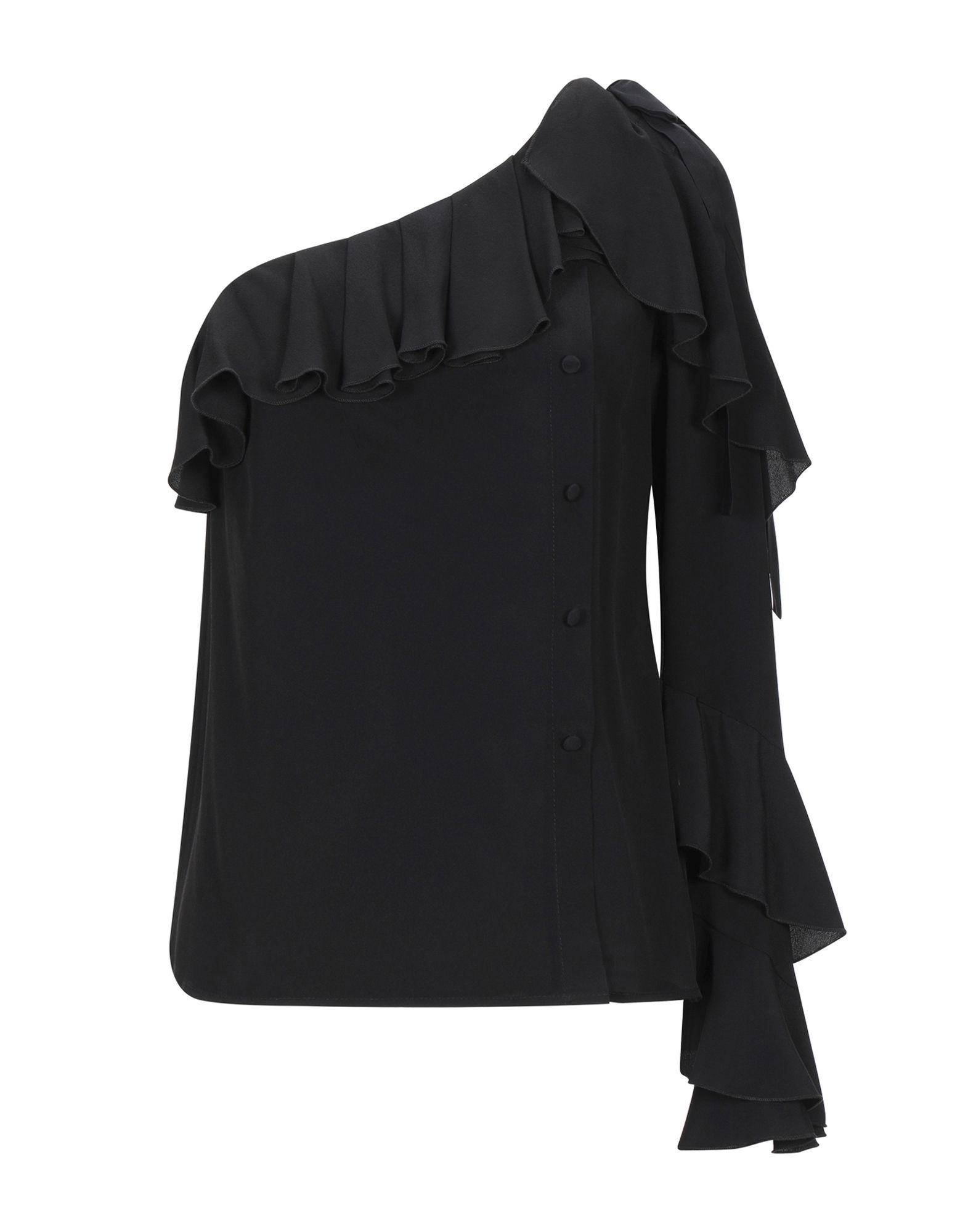 《セール開催中》BABYLON レディース シャツ ブラック 38 シルク 50% / アクリル 50%