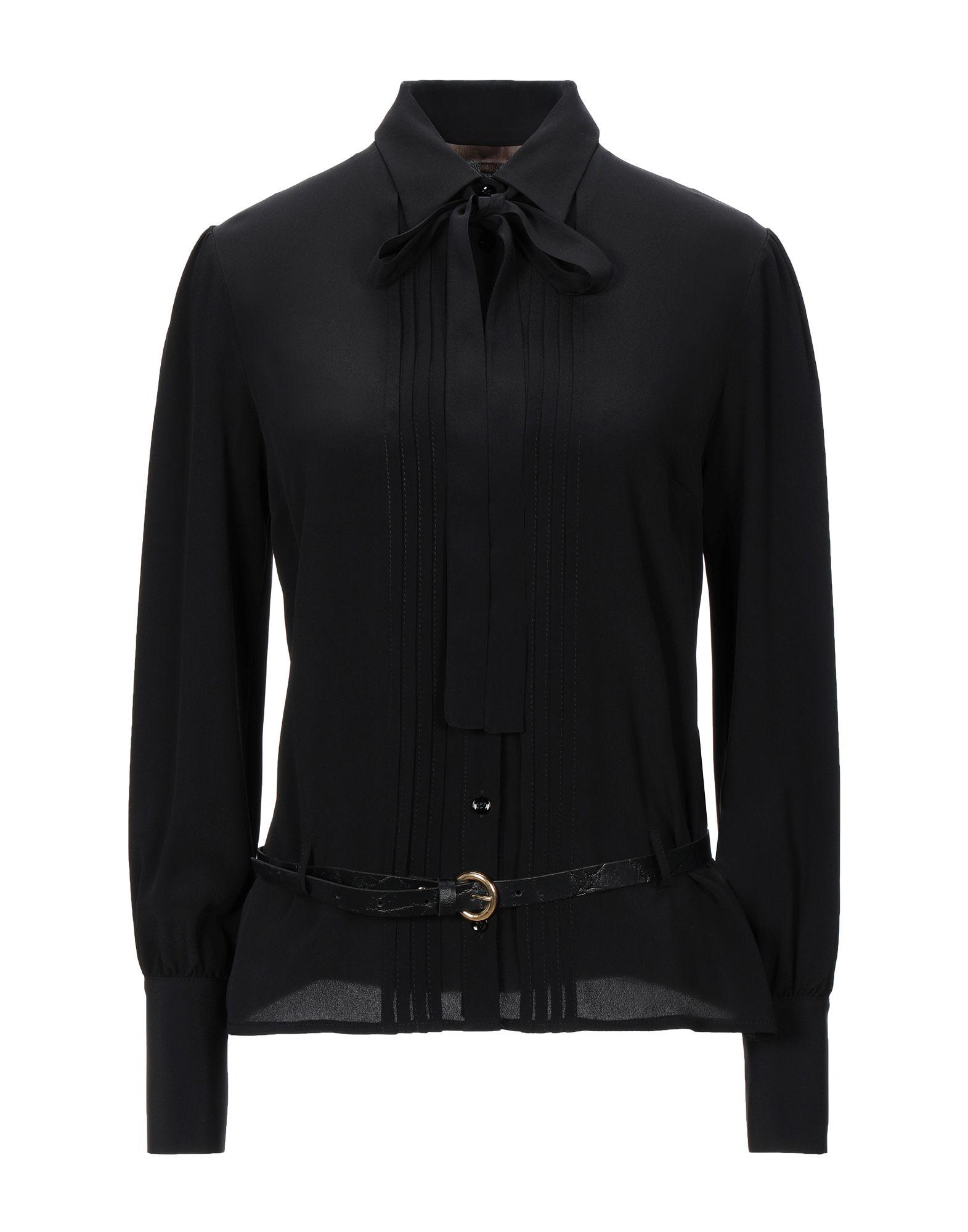 《セール開催中》BABYLON レディース シャツ ブラック 40 シルク 50% / アセテート 50%