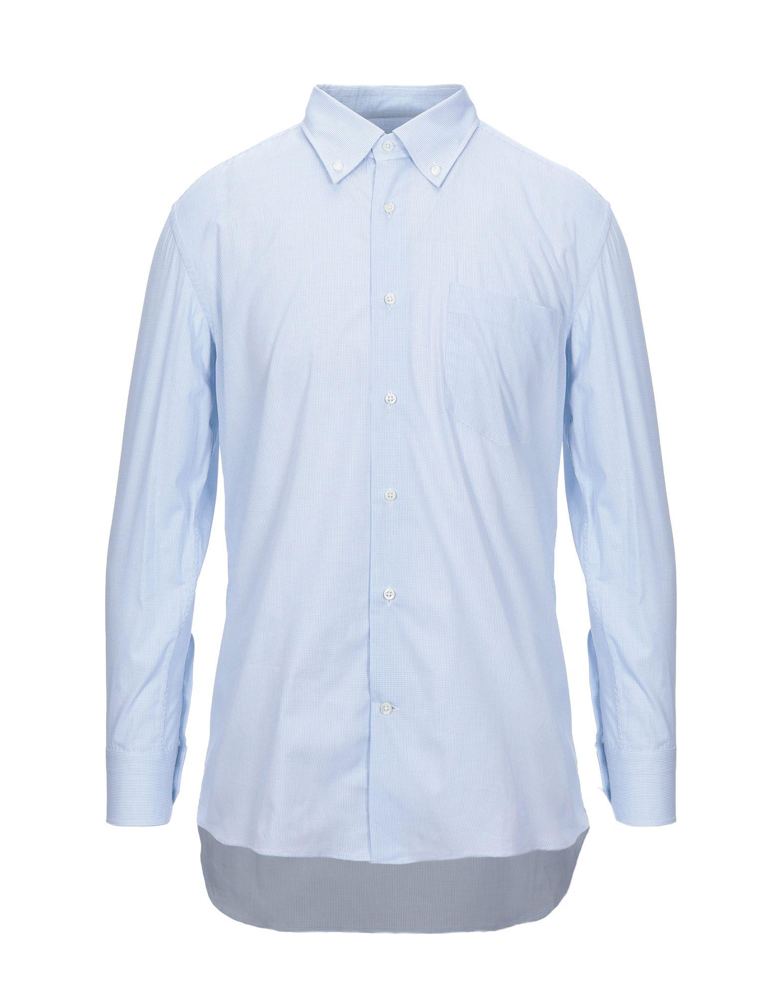 《セール開催中》LABORATORIO DEL CARMINE メンズ シャツ スカイブルー 44 コットン 100%