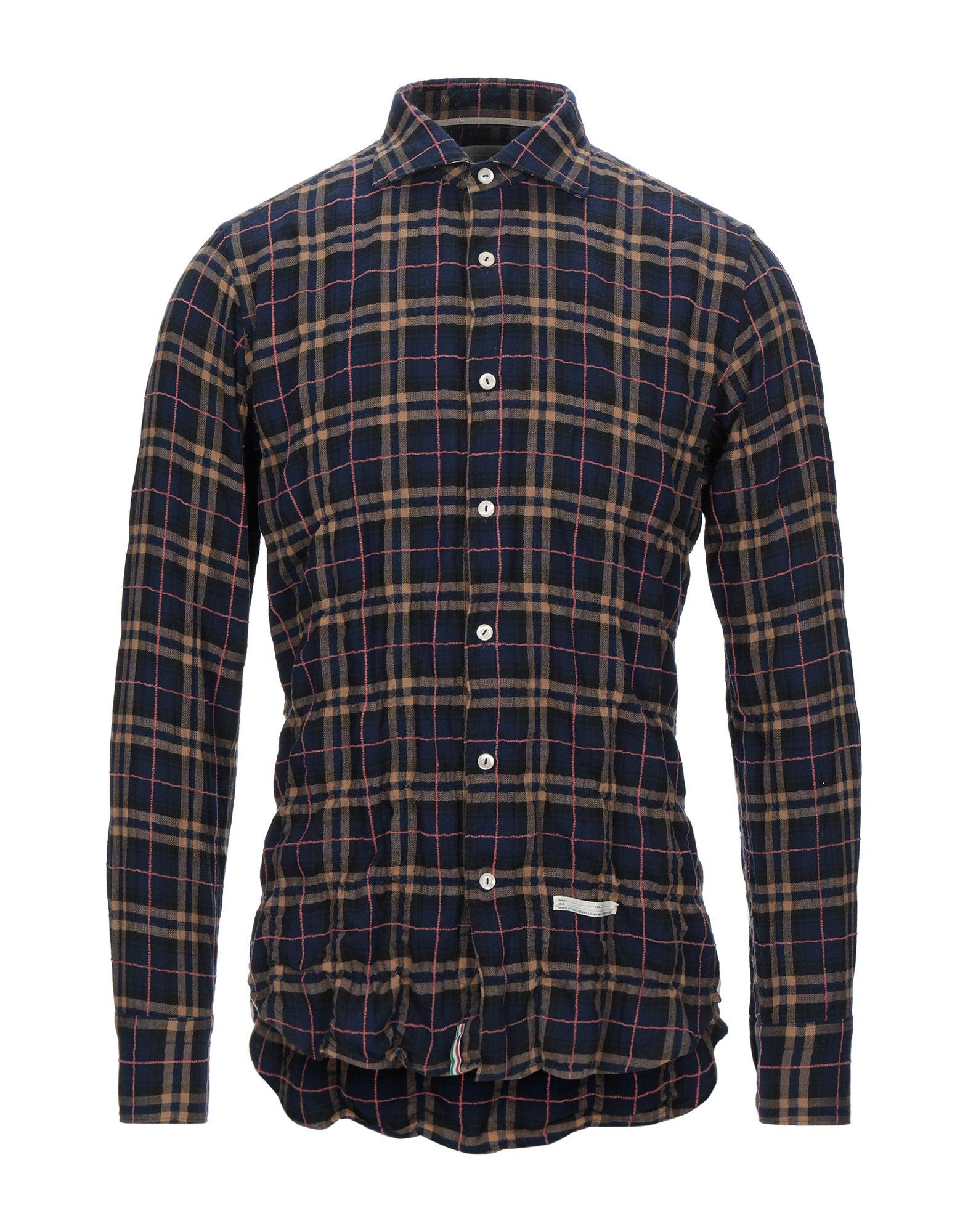 《セール開催中》TINTORIA MATTEI 954 メンズ シャツ ダークブルー 43 コットン 99% / ポリウレタン 1%