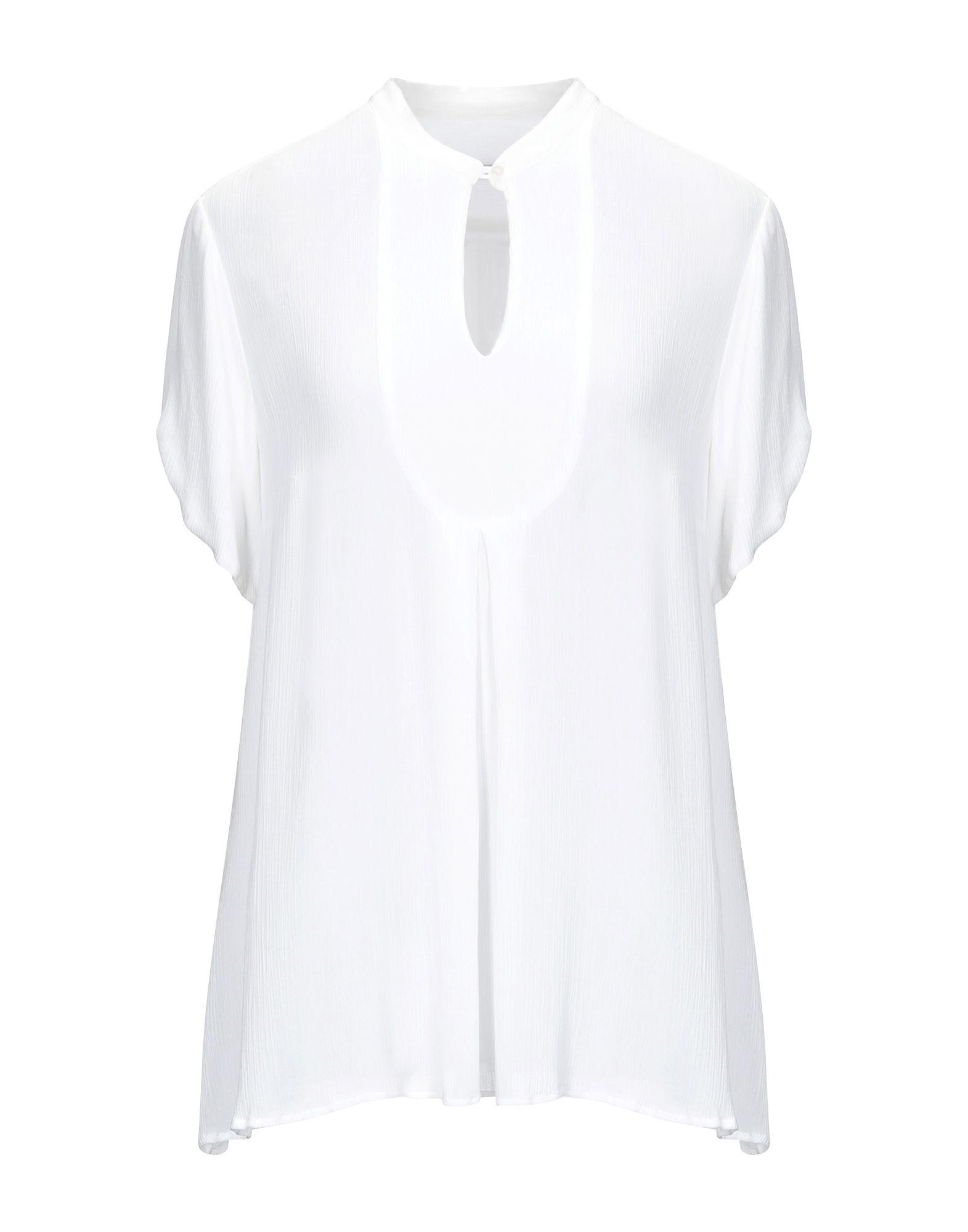《セール開催中》CAMICETTASNOB レディース シャツ ホワイト 44 レーヨン 100%