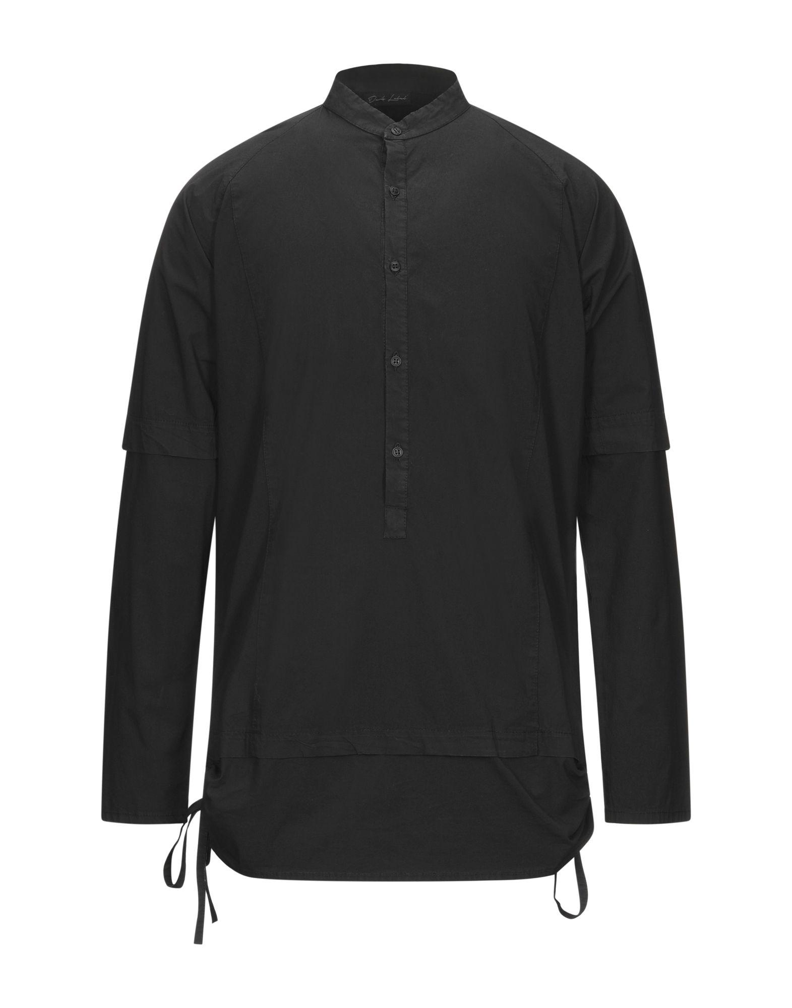 《セール開催中》DARK LABEL メンズ シャツ ブラック M コットン 97% / ポリウレタン 3%
