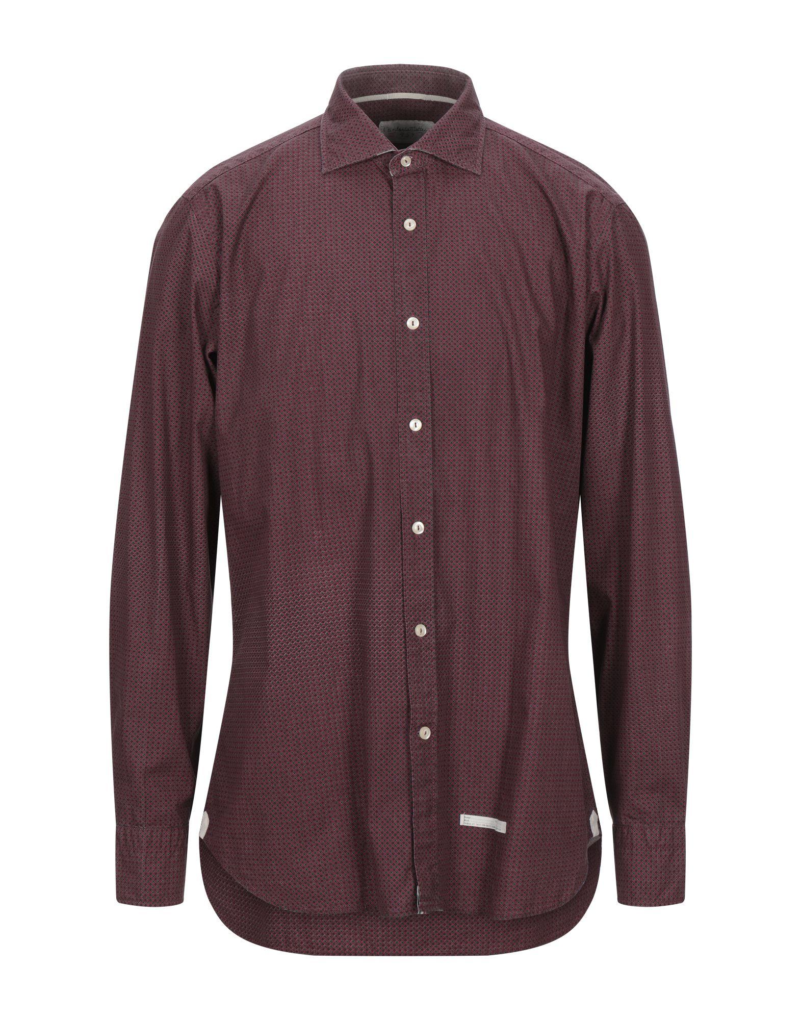 《セール開催中》TINTORIA MATTEI 954 メンズ シャツ レンガ 43 コットン 100%