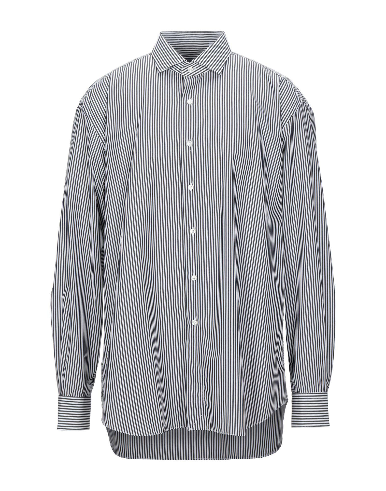《セール開催中》XACUS メンズ シャツ ブラック 46 コットン 100%