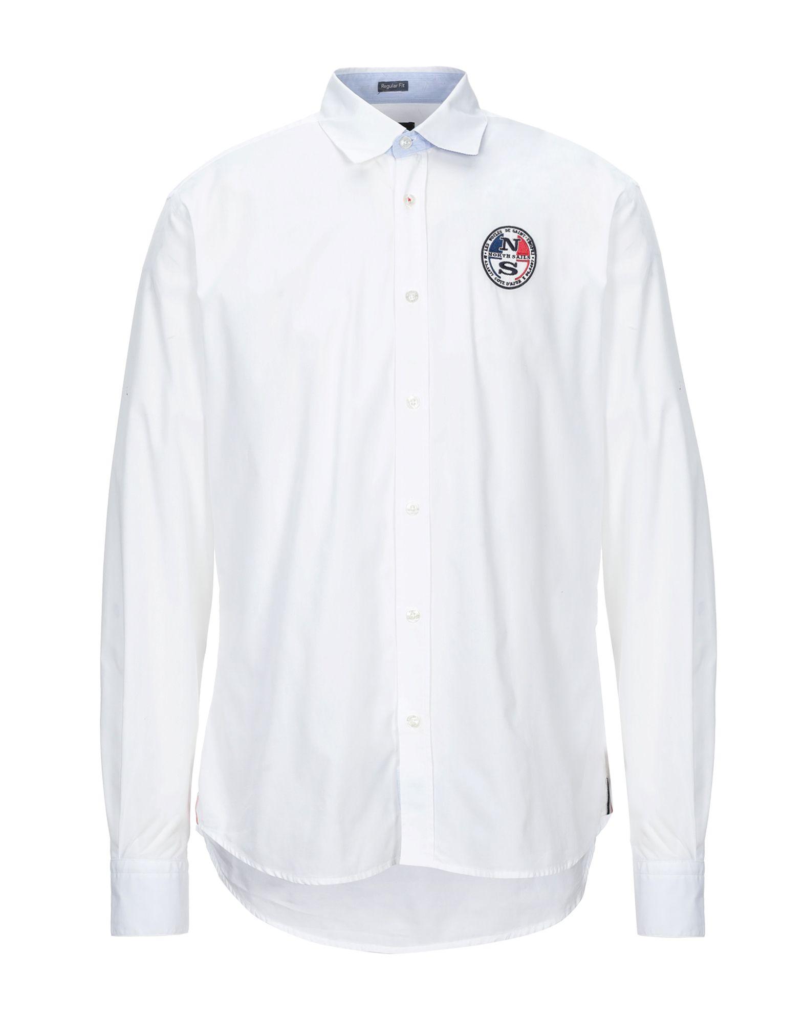 《セール開催中》NORTH SAILS メンズ シャツ ホワイト L コットン 100%
