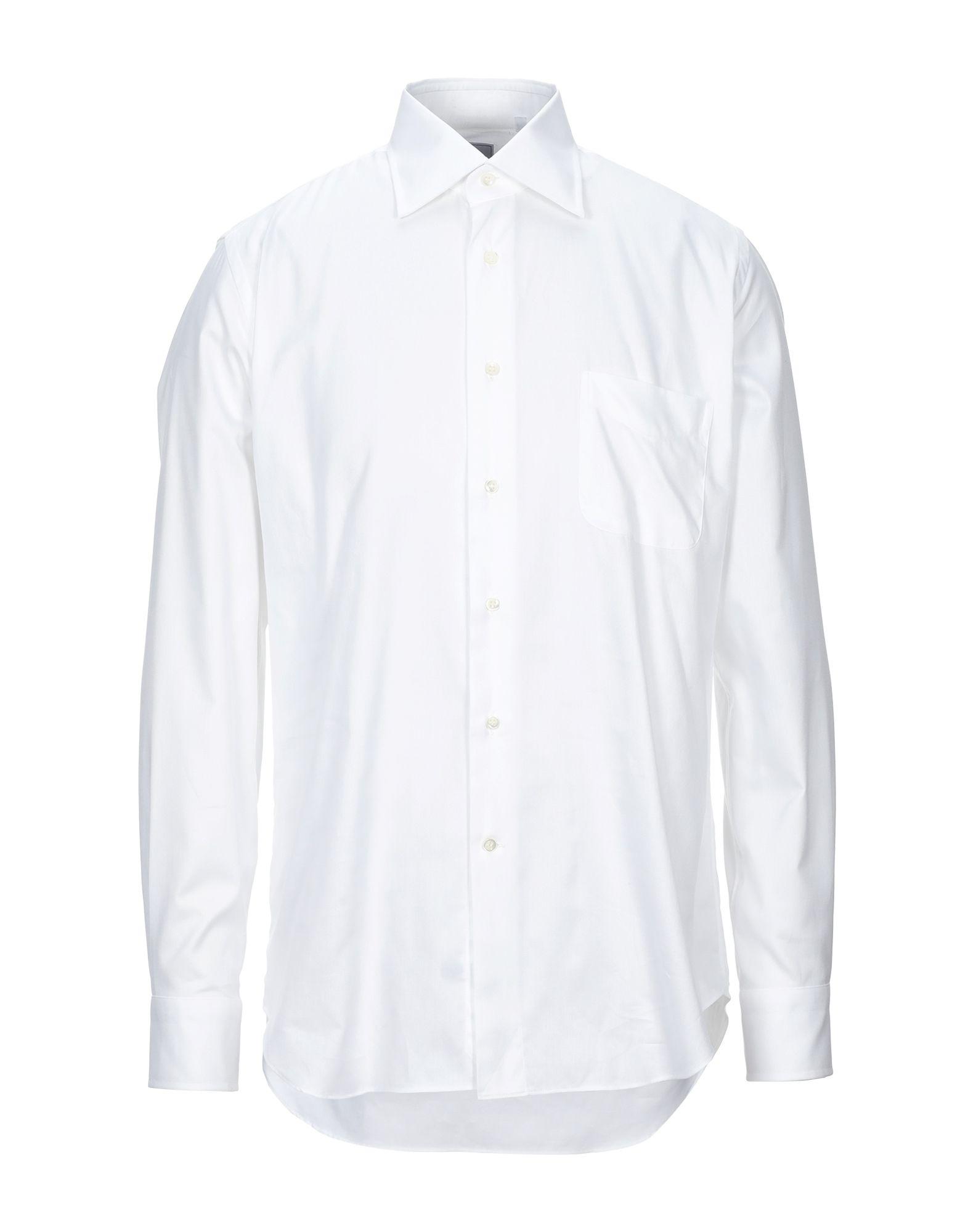 《セール開催中》LEXINGTON メンズ シャツ ホワイト 42 コットン 100%