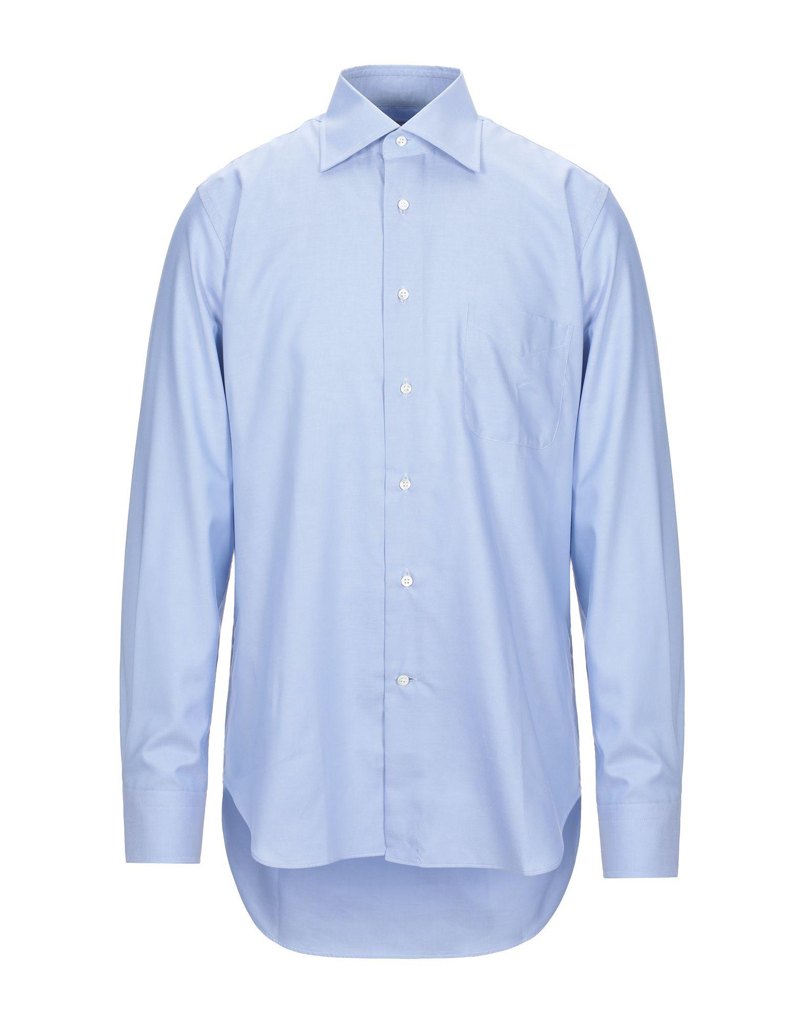 《セール開催中》LEXINGTON メンズ シャツ スカイブルー 42 コットン 100%
