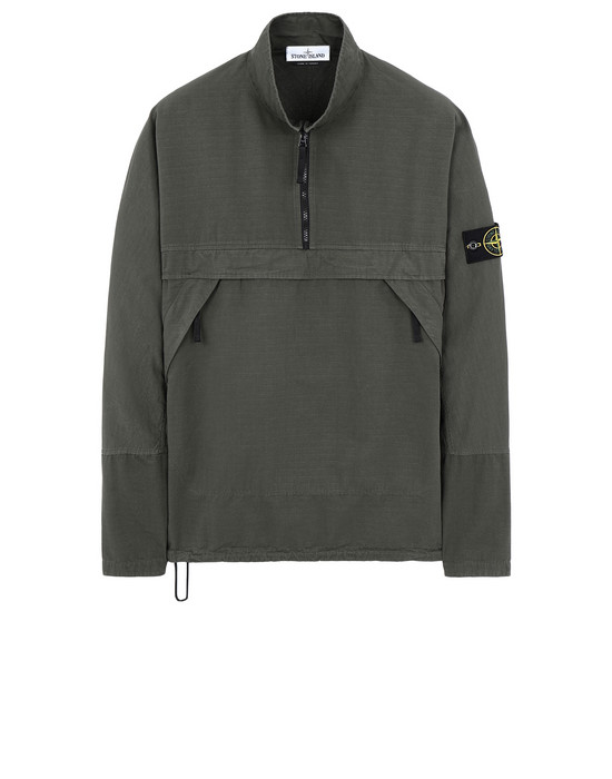 STONE ISLAND 10802 OVER SHIRT Man Musk Green