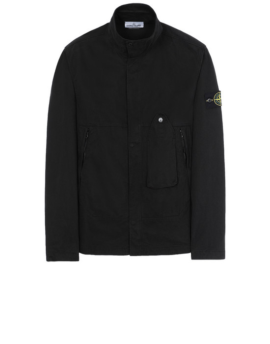 STONE ISLAND 10910 OVER SHIRT Man Black