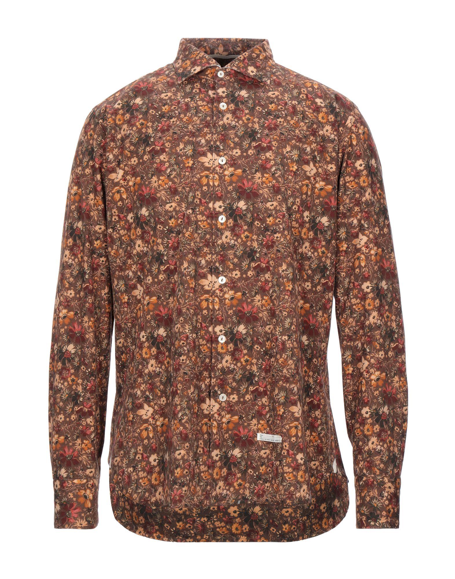 《セール開催中》TINTORIA MATTEI 954 メンズ シャツ ブラウン 42 コットン 100%