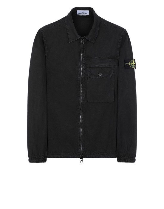 STONE ISLAND 107WN T.CO+OLD OVER SHIRT Man Black
