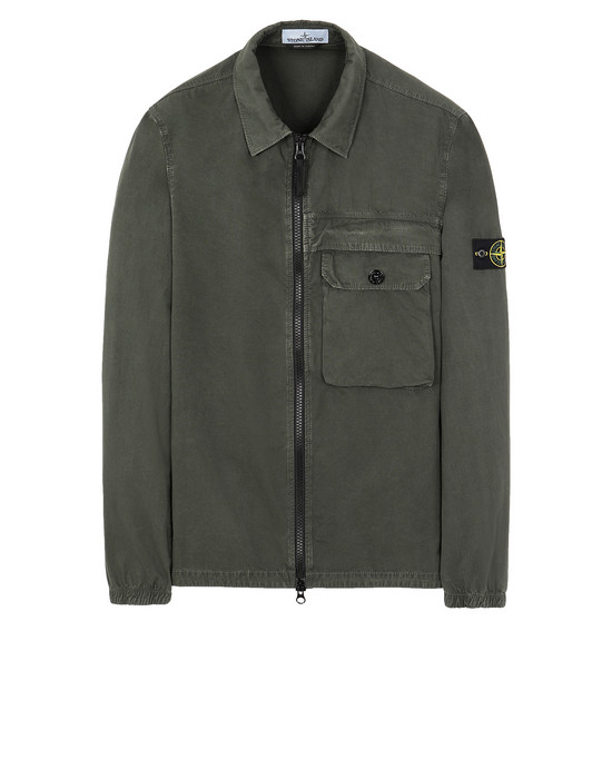 STONE ISLAND 107WN T.CO+OLD OVER SHIRT Man Musk Green