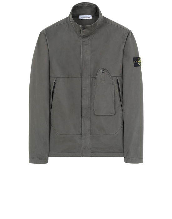STONE ISLAND 10910 OVER SHIRT Man Musk Green