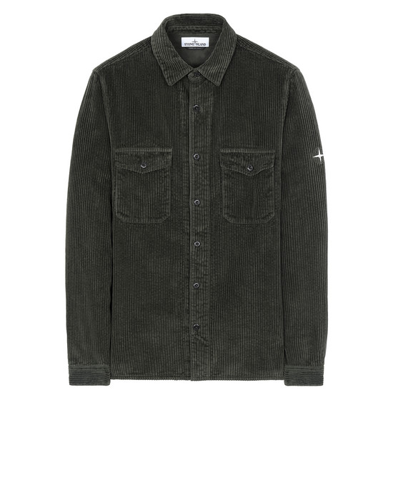 STONE ISLAND 12111 Long sleeve shirt Man Musk Green
