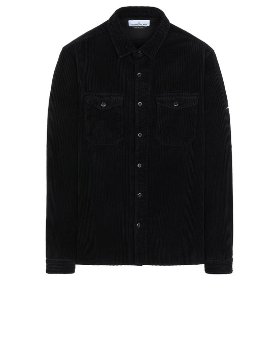 STONE ISLAND 12111 Long sleeve shirt Man Black
