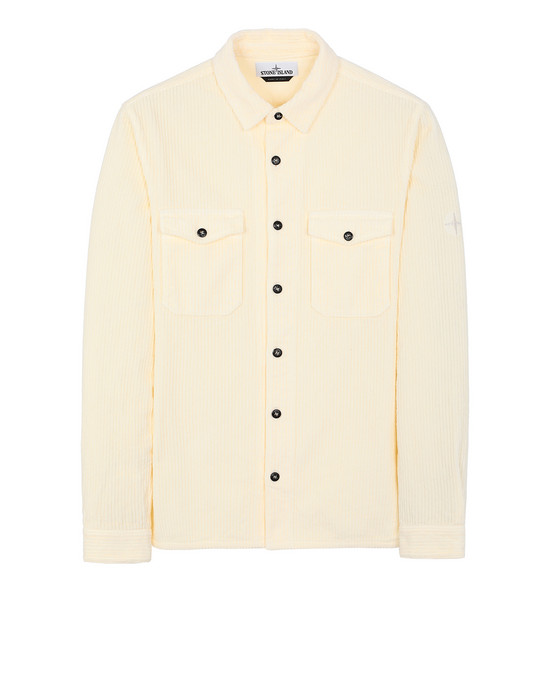 STONE ISLAND 12111 Long sleeve shirt Man Butter