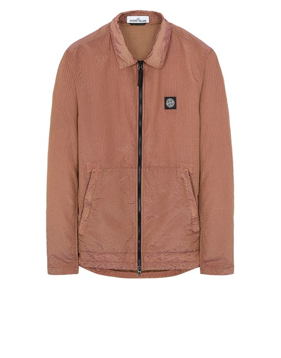 STONE ISLAND 11534 POLY-COLOUR FRAME-TC 衬衫外套 男士 烟草色