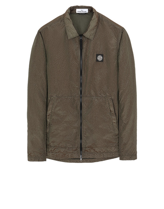 STONE ISLAND 11534 POLY-COLOUR FRAME-TC КУРТКА-РУБАШКА Для Мужчин Зеленый мох