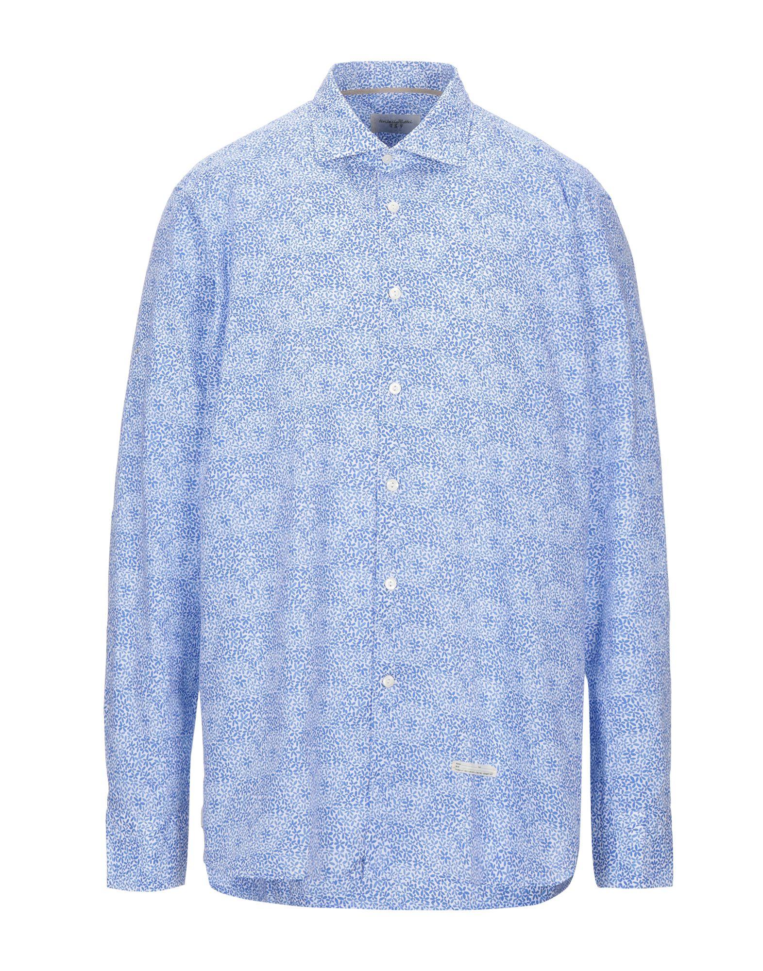 《セール開催中》TINTORIA MATTEI 954 メンズ シャツ ブルー 45 コットン 100%