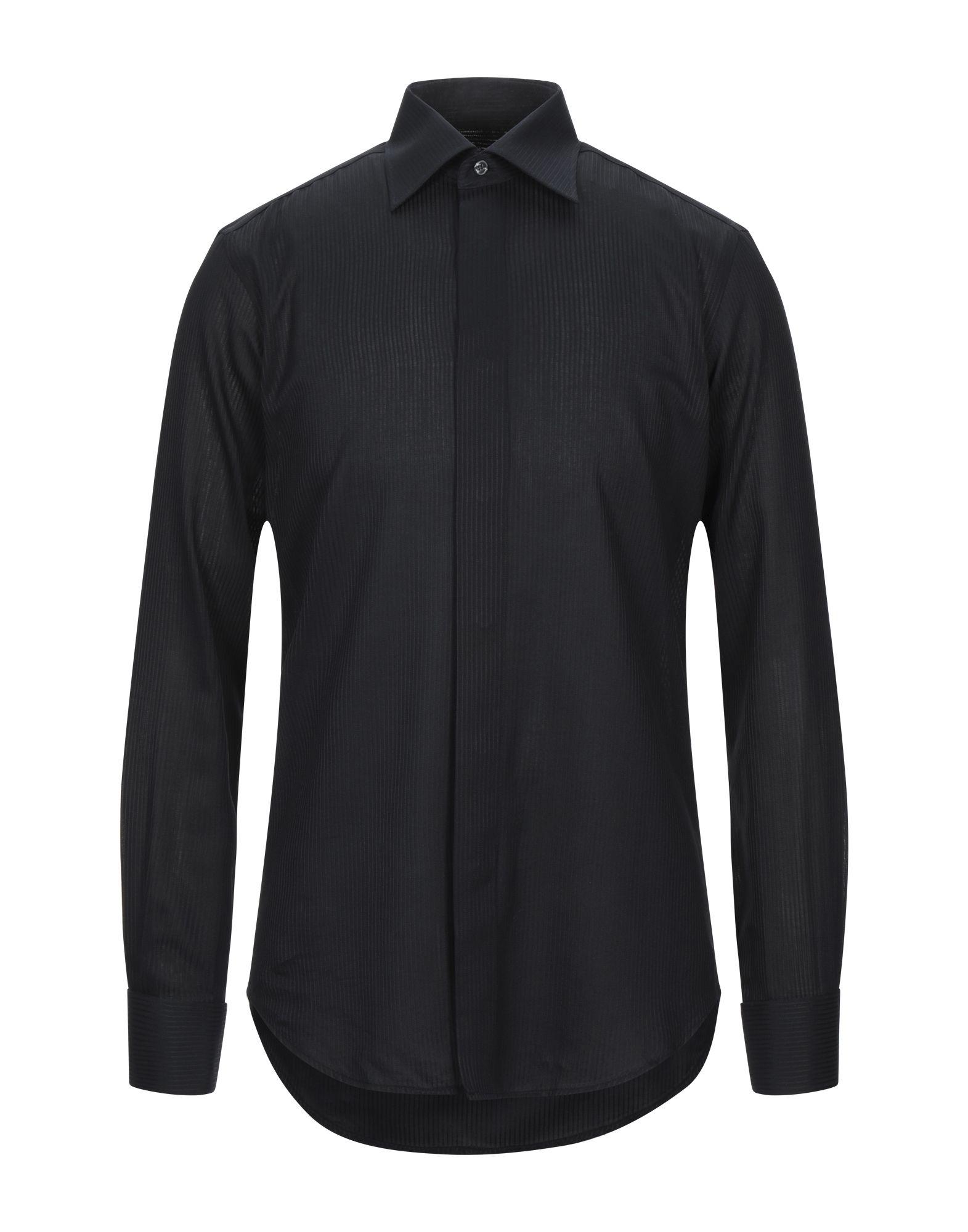 《セール開催中》PAL ZILERI CERIMONIA メンズ シャツ ブラック 38 コットン 100%
