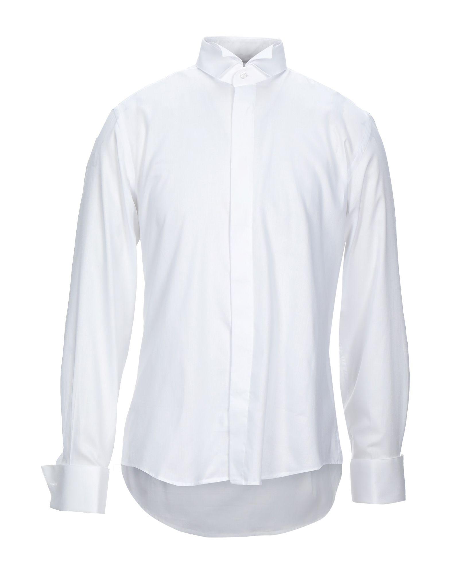 《セール開催中》PAL ZILERI CERIMONIA メンズ シャツ ホワイト 41 コットン 100%