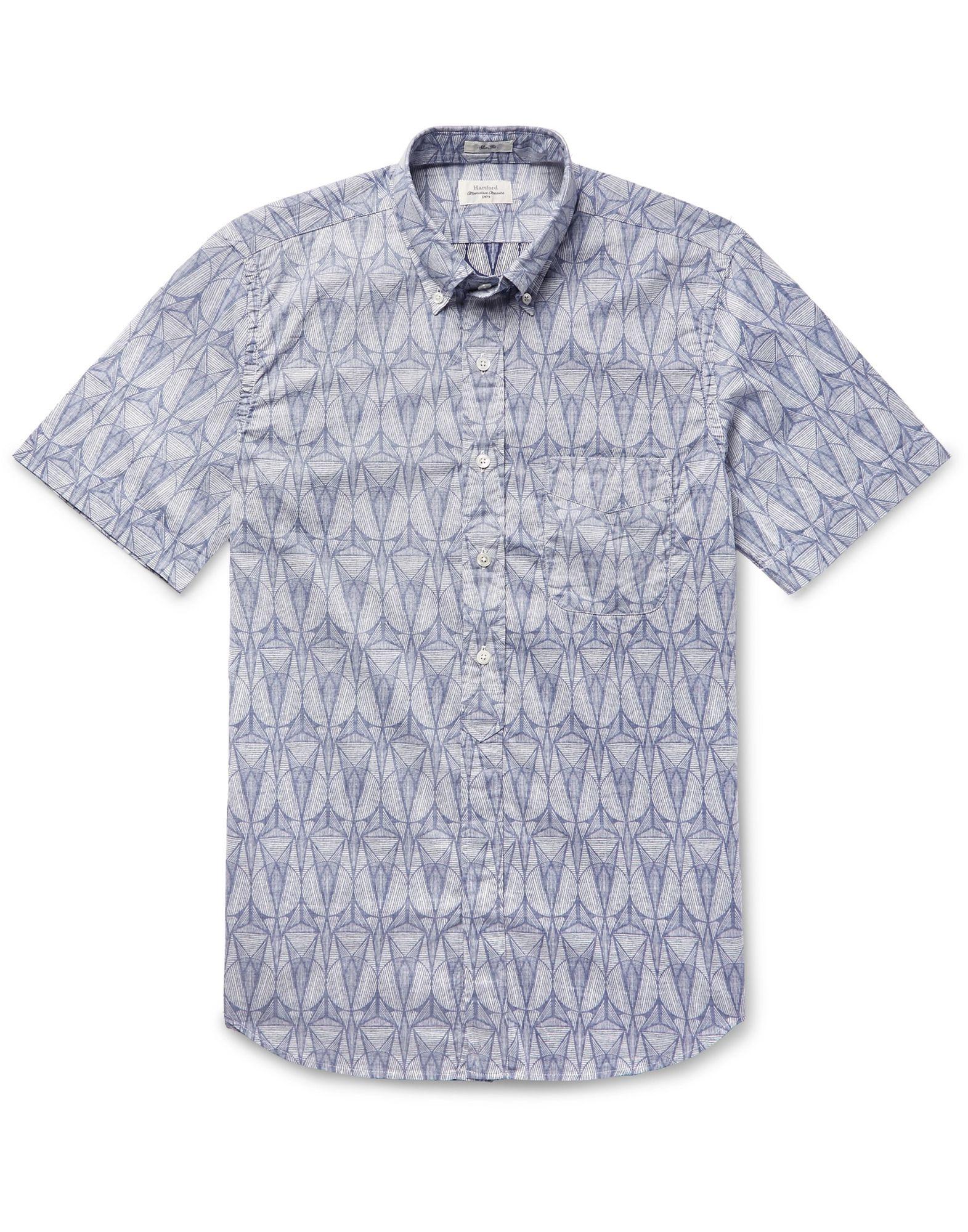 《セール開催中》HARTFORD メンズ シャツ ダークブルー XXL コットン 100%