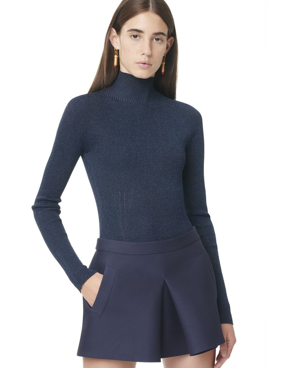 Fitted funnel neck sweater - Lanvin